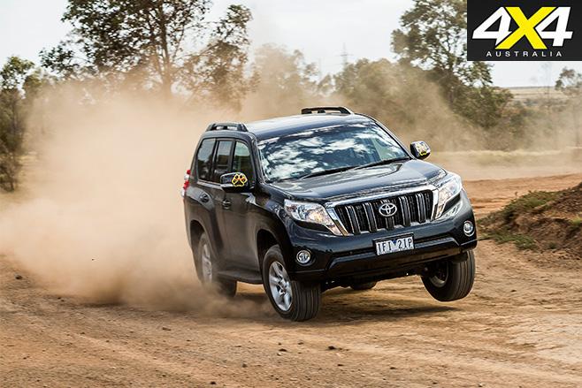 Toyota prado dirt driving