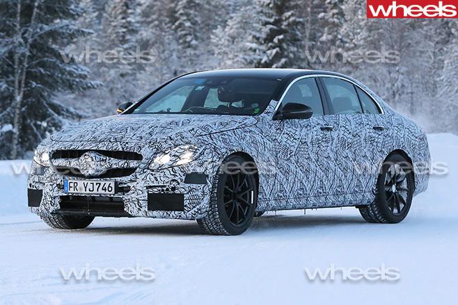 Mercedes -E63-side -front