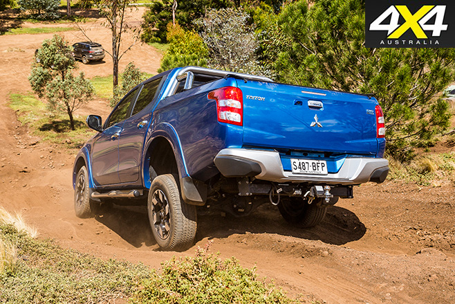 Mitsubishi Triton Exceed downhill rear
