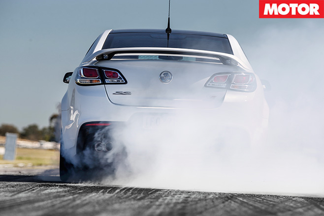 Holden Commodore SS-V Redline burnout