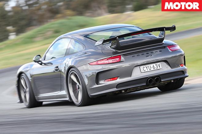 Porsche GT3 Performance car of year rear driving