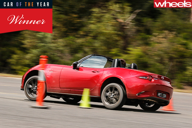 Mazda -MX-5-drive -through -cones