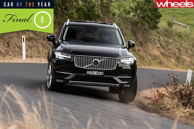 Volvo -XC90-driving -down -hill -cornering