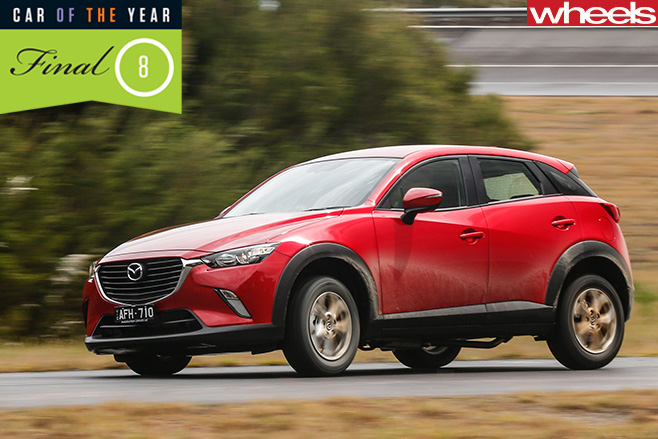 Mazda -CX-3-front -dirt -road
