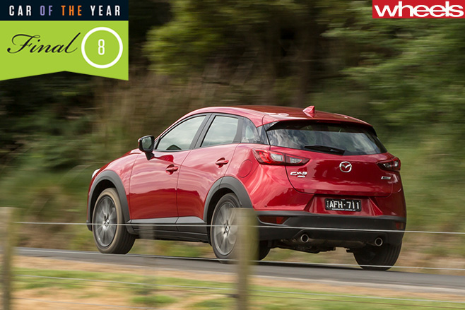 Mazda -CX-3-driving -rear