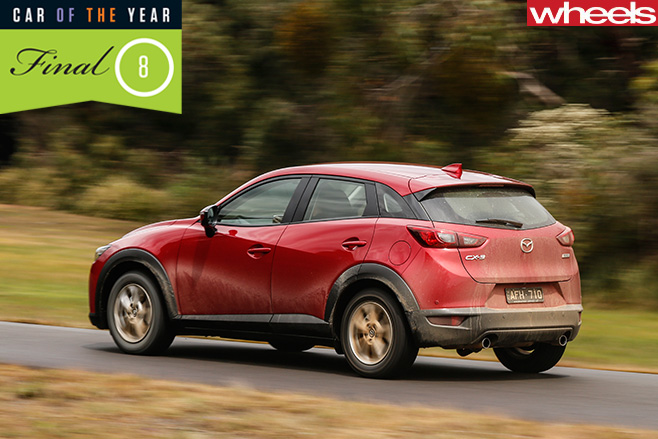 Mazda -CX-3-rear -dirt -road