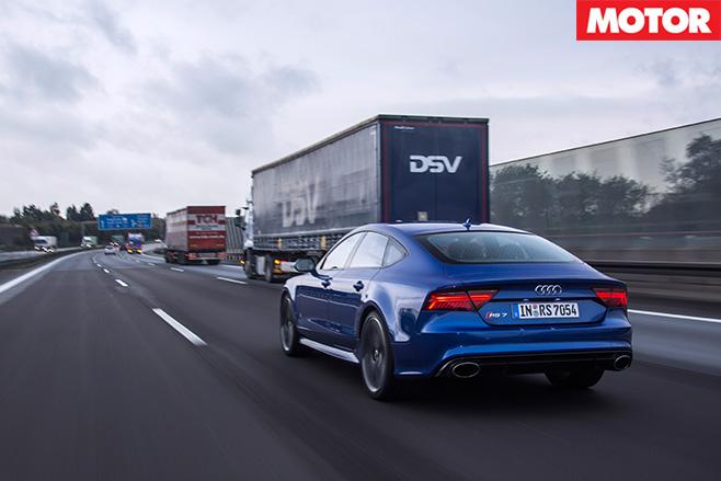 Audi driving motorway
