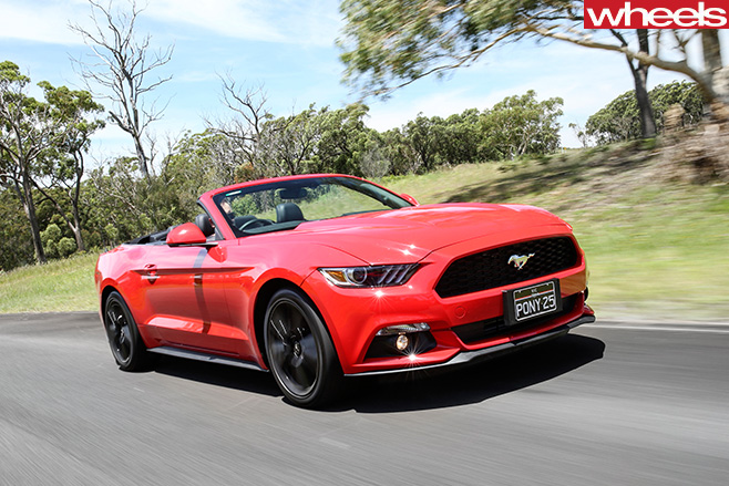 Ford -Mustang -Convertible -front -side -driving