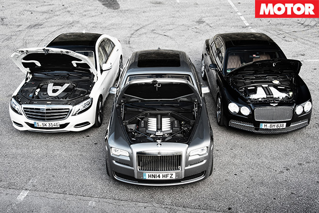 Merc S600 vs R-R-Ghost vs Bentley Flying Spur engines