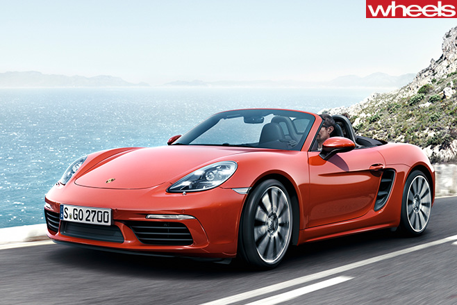 718-Porsche -Boxster -S-front -driving