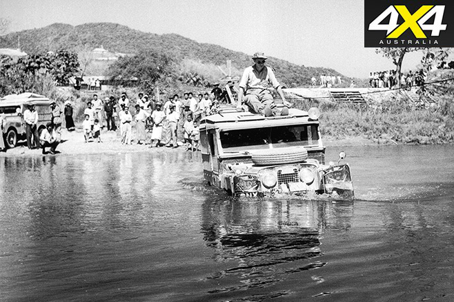 Land rover beginning in water