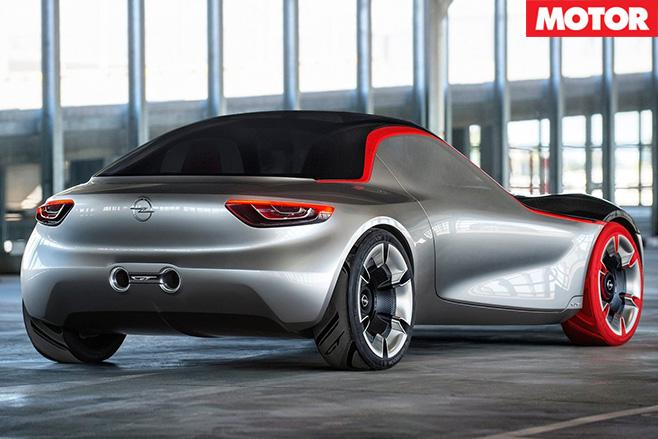 Opel GT concept rear
