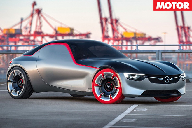 Opel gt concept front