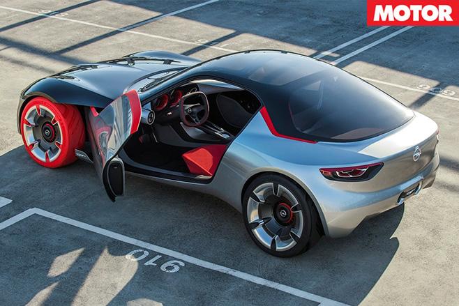 Opel gt concept rear doors