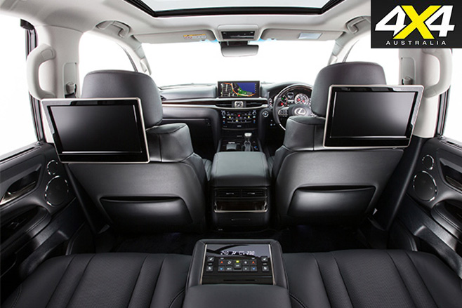 Lexus LX570 interior back