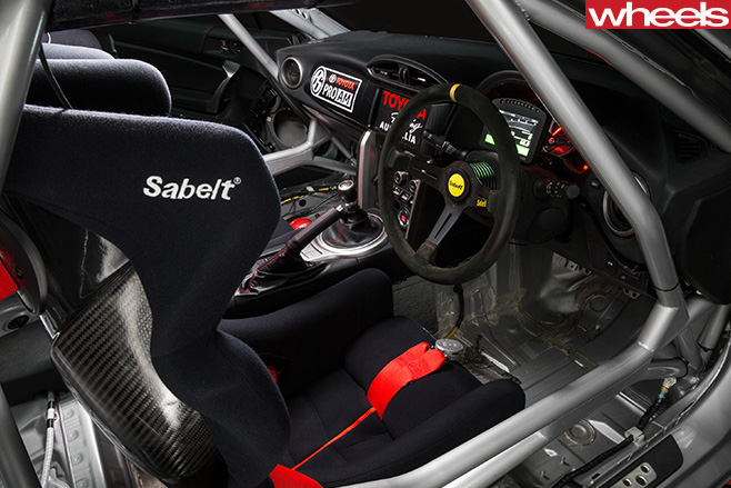 Toyota -86-Race -Car -inside -driver -side