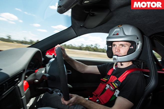 Porsche driving