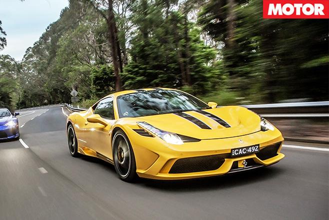 Ferrari 458speciale -driving front