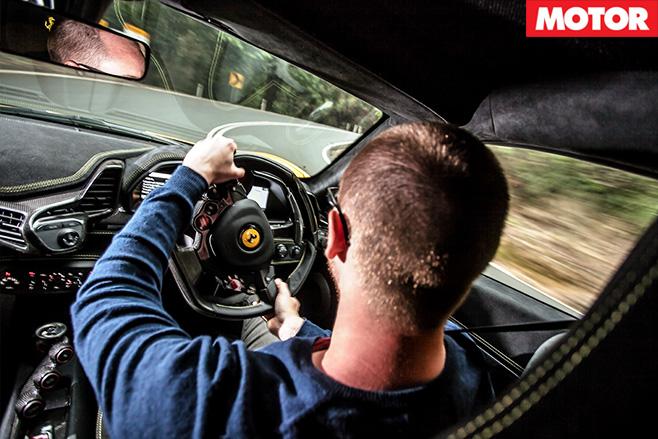 Ferrari 458 speciale sitting inside