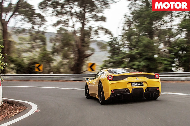 Ferrari 458 speciale rear driving