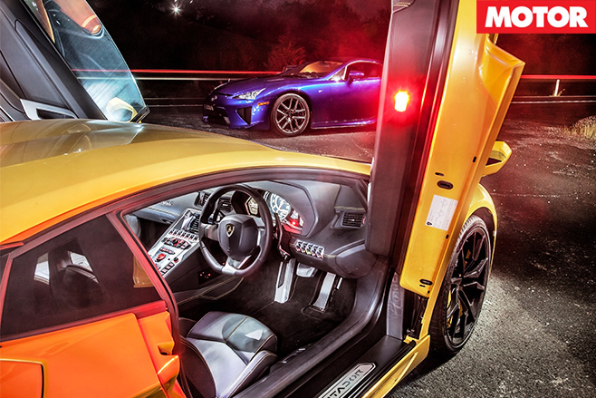 Lamborghini Aventador scisor doors