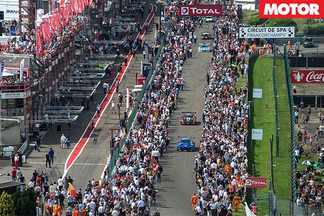 GT3 racing circuit