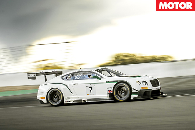 Bentley GT3 racetrack