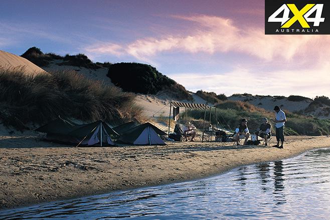 Camping spot coorong