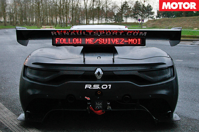 Renault Sport RS 01 Interceptor rear lights