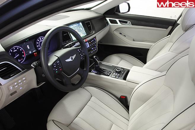 2016-Hyundai -Genesis -V8-interior