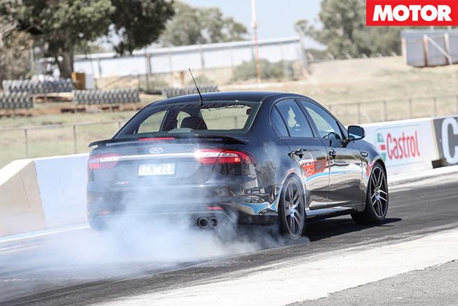 Herrod Motorsport XR8 burn-out