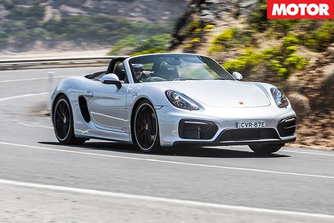 Porsche boxster gts driving