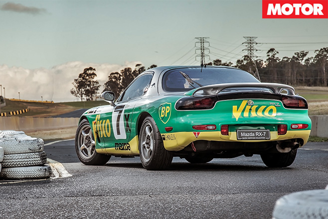 Mazda rx-7 at the bathurst 12 hour rear