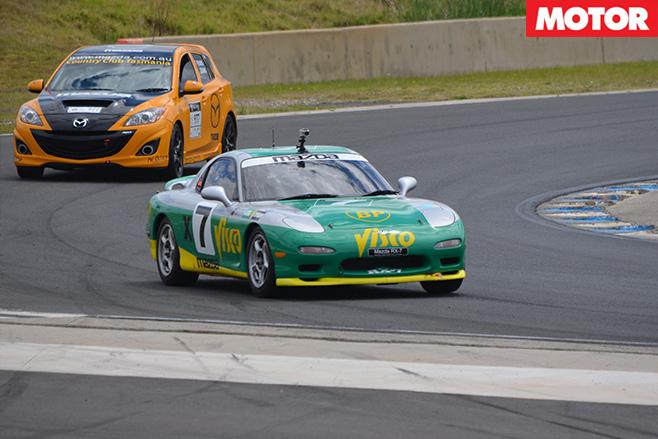 Mazda -rx -7-turning -fast