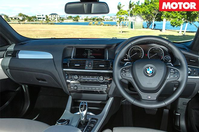 BMW X4 35i interior