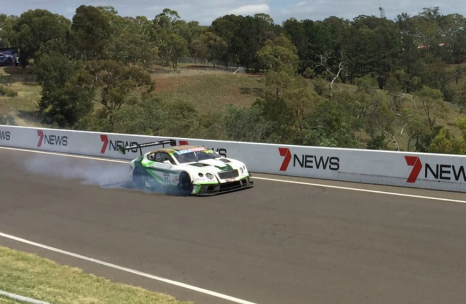 Bathurst 12 Hour Bentley Crash