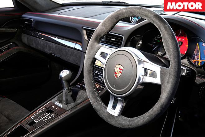 Porsche 911 GTS rear interior