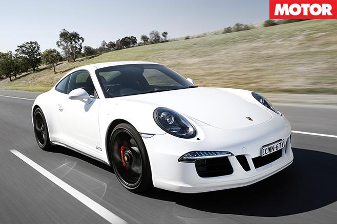 Porsche 911 gts driving