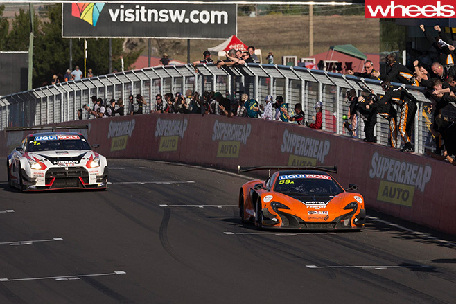 Mc Laren -vs -Nissan -Bathurst -12-hour
