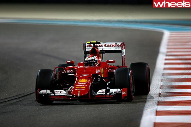 Raikkonen -track -F1