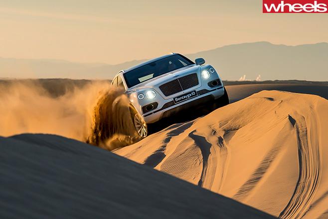 Bentley -Bentayga -climbing -sand -dune