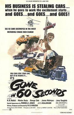 Gone In Sixty Seconds 1974 Movie Poster