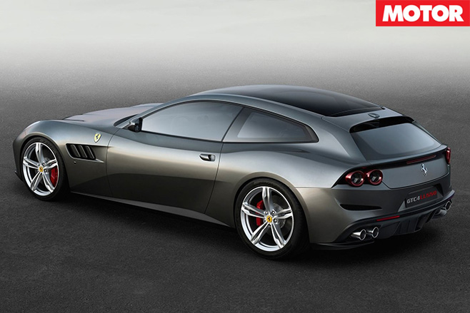 Ferrari GTC4 Lusso rear side