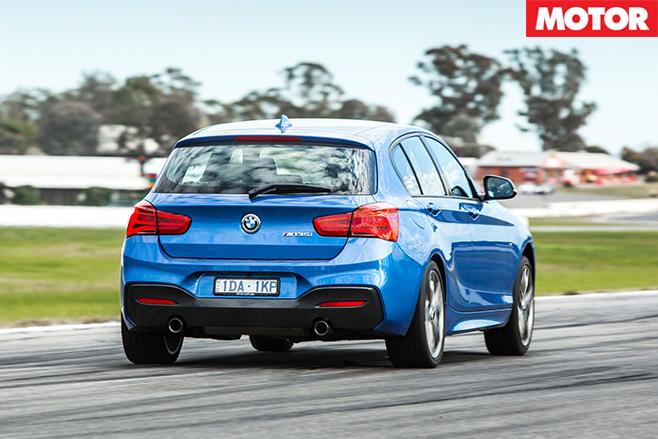 BMW M135i rear