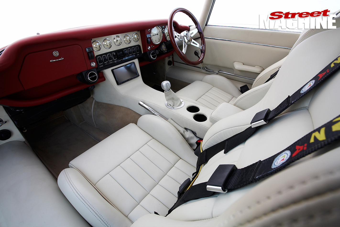 E-type -Jaguar -interior -passenger
