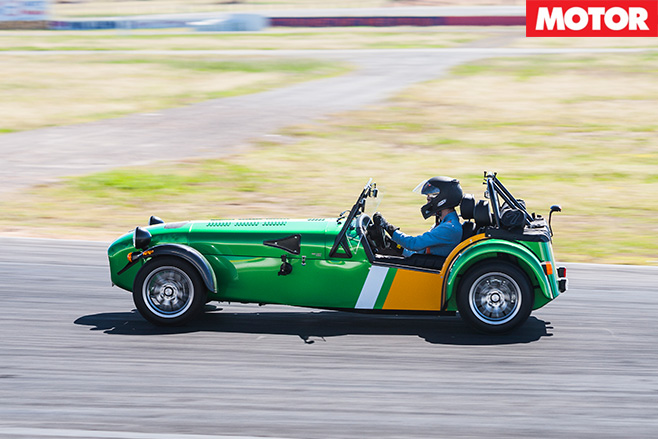 Caterham 485 side driving