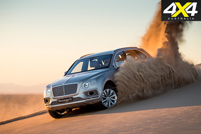 Bentley Bentayga sand driving