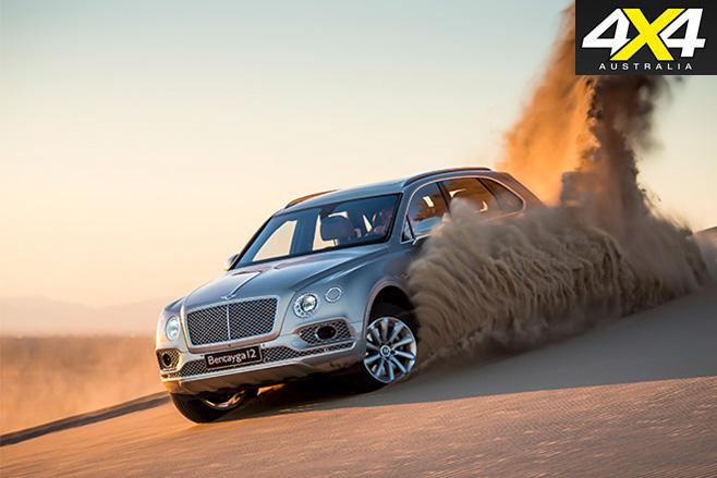 Bentley Bentayga sand driving