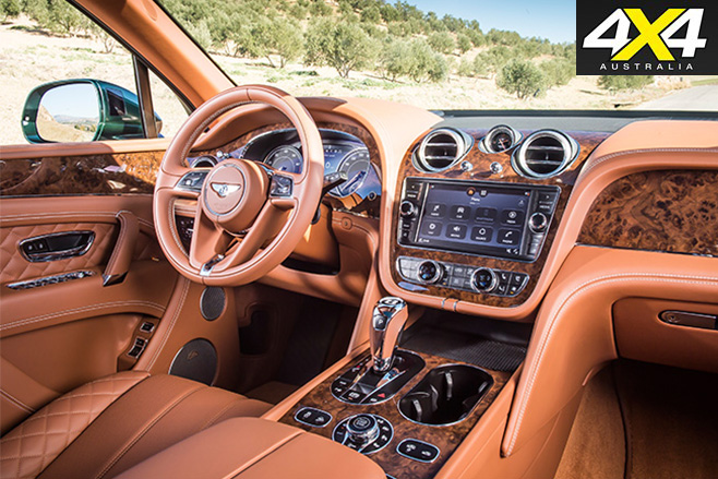 Bentley Bentayga driving front interior
