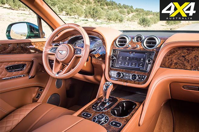 Bentley Bentayga driving front interior